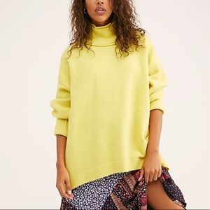 Free People Afterglow Mock Neck Tunic Sweater NWT